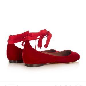 Tabitha Simmons Daria Velvet Ballet Flats